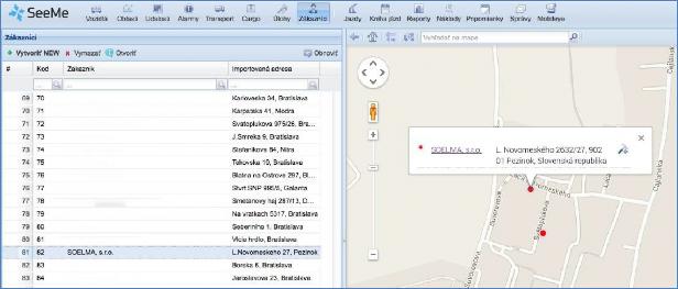 GPS monitoring přiřazení úlohy pracovníkovi pro vybraného klienta