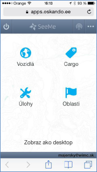 GPS monitoring SeeMe Mobile