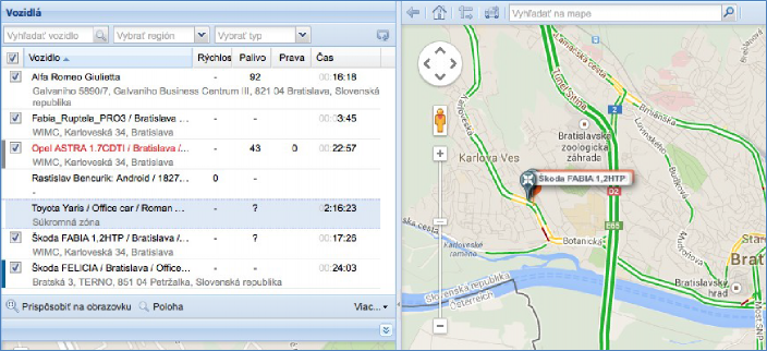 GPS nonitoring, vytvoření soukromé oblasti