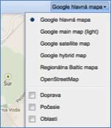 práce s mapou GPS Monitoring