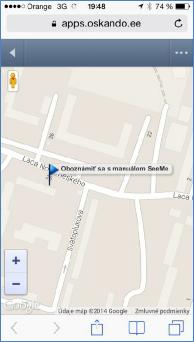 GPS monitoring SeeMe Mobile navigace do cíle