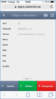 GPS monitoring SeeMe Mobile informace o zákazníkovi