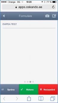 GPS monitoring SeeMe Mobile formulář na vyplnění