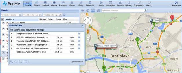 GPS plánování tras