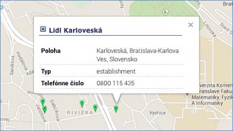 zobrazení názvu firmy včetně adresy GPS monitoring