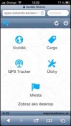 satelitní monitoring ve smartphone SeeMee Tracker