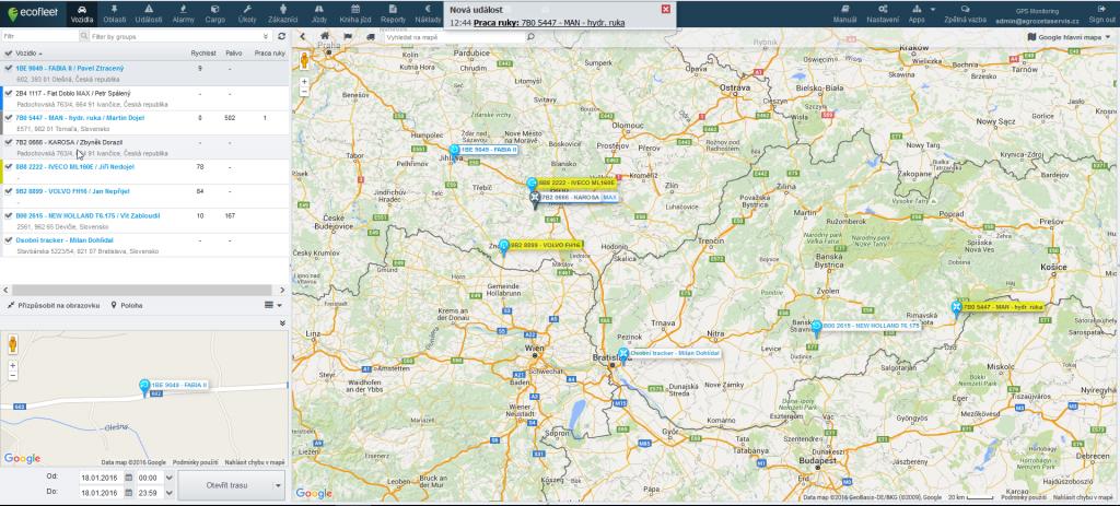 satelitní monitoring vozidel 1
